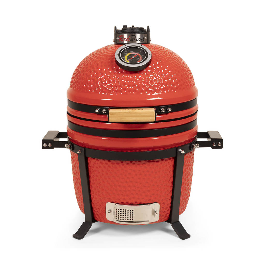 """Patton Kamado Red Devil barbecue premium (15""""), Rood"""
