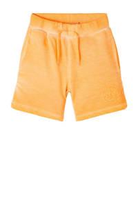 NAME IT KIDS sweatshort Hamilto van biologisch katoen oranje, Oranje