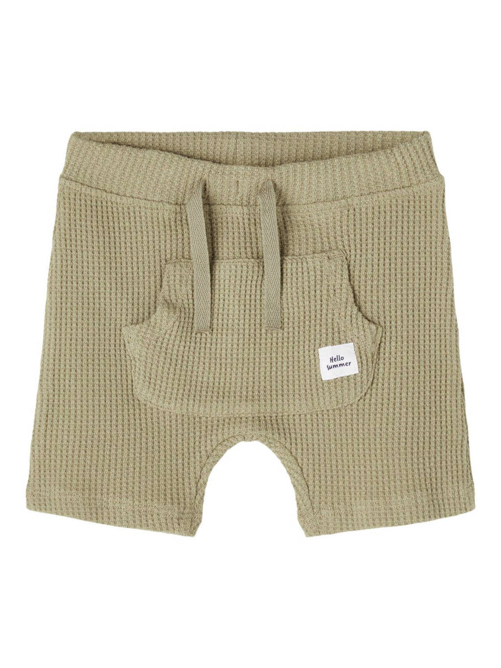 NAME IT BABY baby regular fit short Hardy met biologisch katoen kaki, Kaki