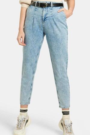 high waist tapered fit jeans Emma L28 bleached denim