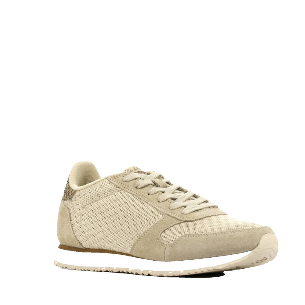 Woden Ydun  suède sneakers beige, Beige