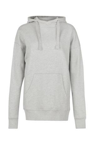 hoodie Night met printopdruk lichtgrijs