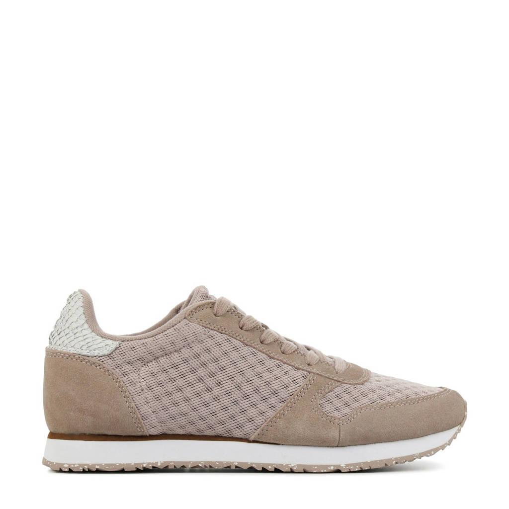 Woden Ydun  suède sneakers roze/beige, Roze/beige