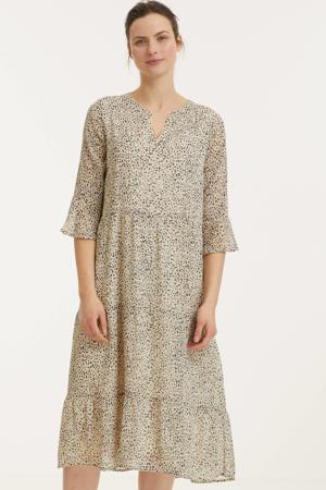 jurk met all over print zand
