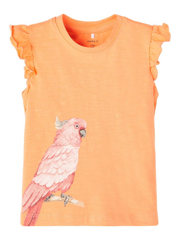 NAME IT BABY baby T-shirt Jennifer met biologisch katoen oranje, Oranje