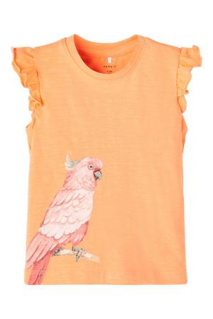 baby T-shirt Jennifer met biologisch katoen oranje