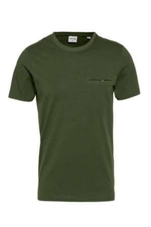 T-shirt Barbar met all over print olijfgroen