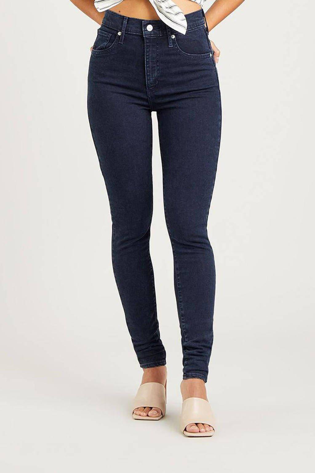 Levi's MILE HIGH SUPER SKINNY high waist skinny jeans dark denim, Dark denim