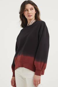 Levi's dip-dye sweater PAI  zwart/donkerrood, Zwart/donkerrood