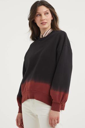 dip-dye sweater PAI  zwart/donkerrood