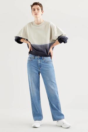 dip-dye sweater PAI  ecru/donkerblauw