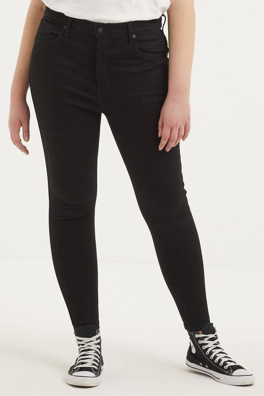 Levi's Plus Mile high waist super skinny jeans black galaxy, BLACK GALAXY