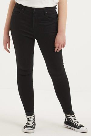 Mile high waist super skinny jeans black galaxy