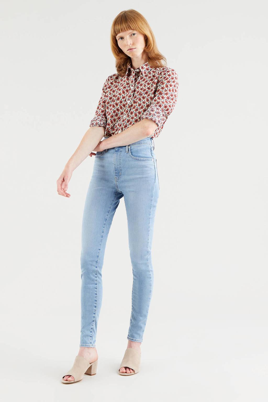 Levi's gebloemde blouse THE CLASSIC SHIRT ecru/rood, Ecru/rood
