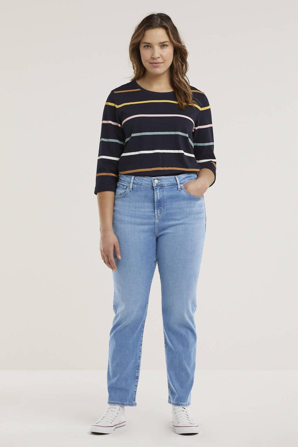 Levi's Plus 724  high waist straight fit jeans light denim, Light denim