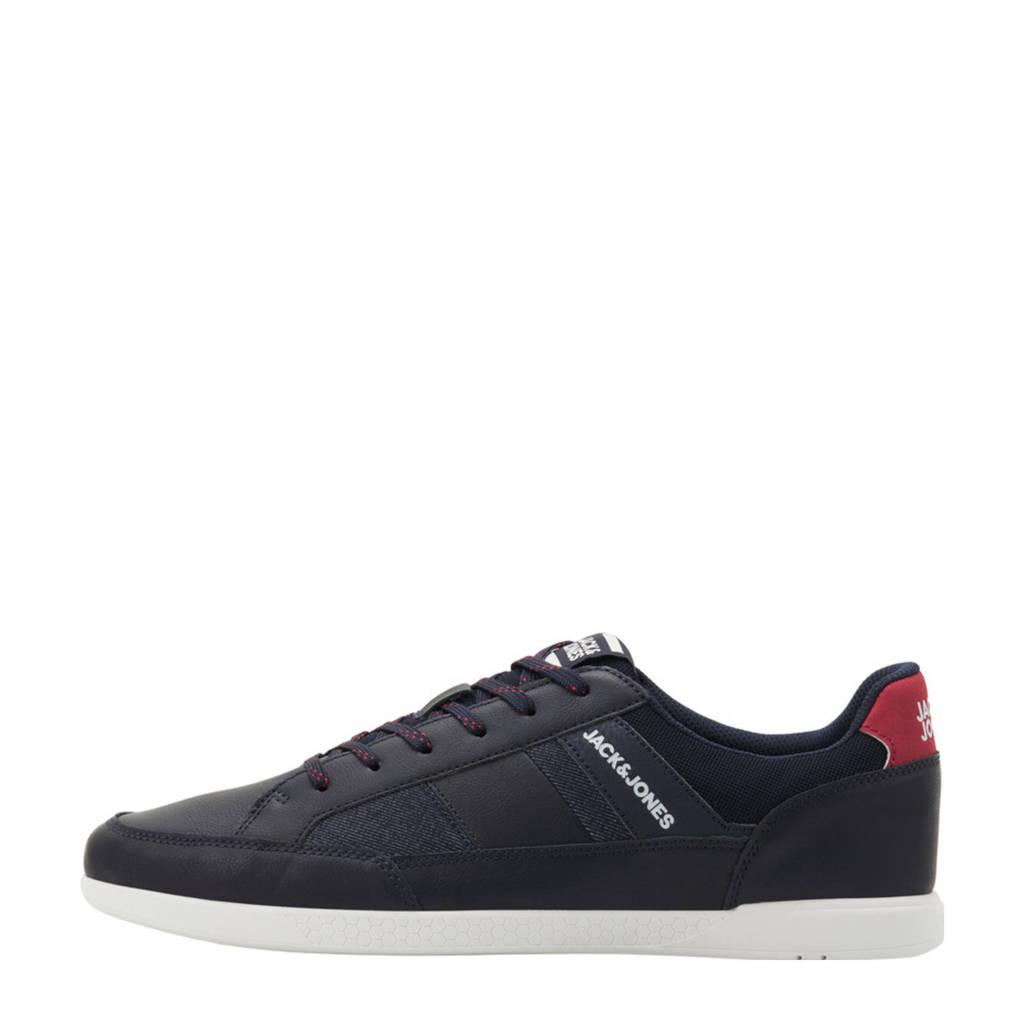 JACK & JONES Byson  sneakers blauw, Blauw/rood