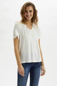 Cream T-shirt wit, Wit