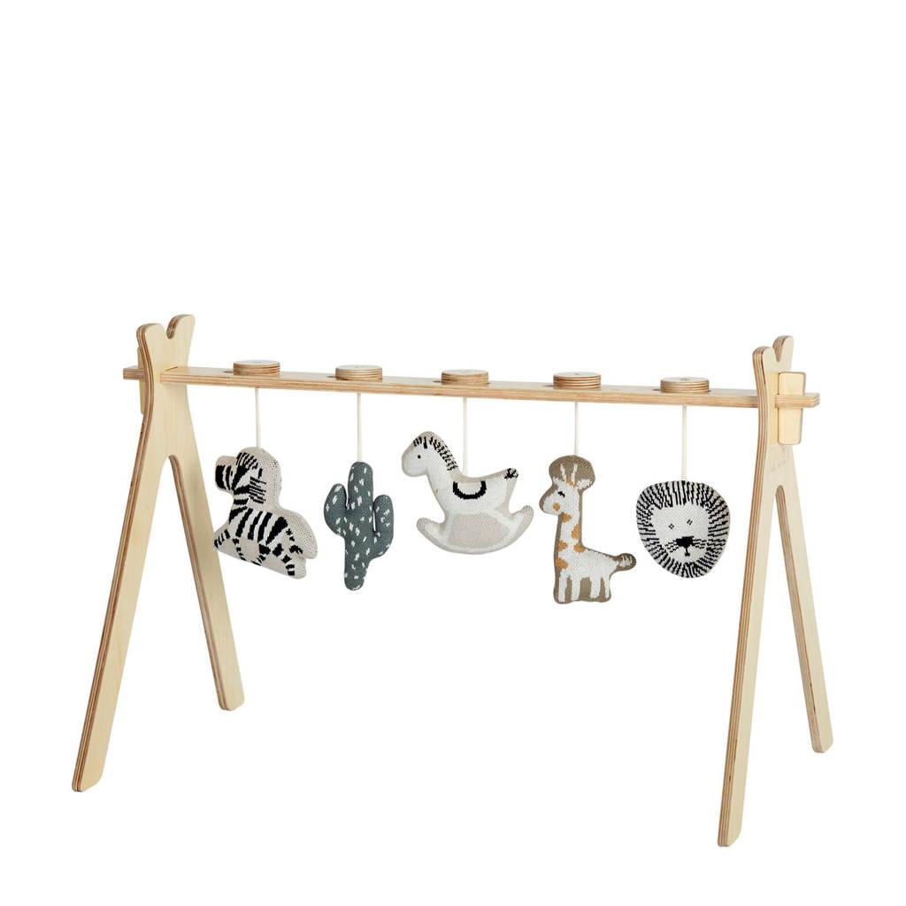 Quax babygym tipi - activity boog + 5 tricot speeltjes - jungle, Naturel