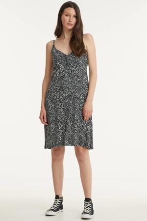A-lijn jurk NOA met all over print zwart/wit
