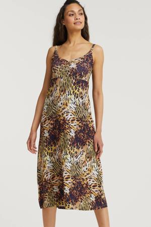 jurk met all over print multicolor