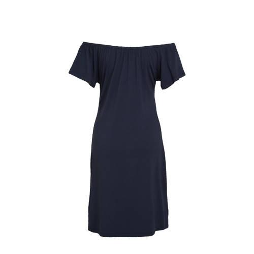 Geisha jurk MAY SOLID blauw