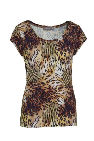 T-shirt met zebraprint multicolor