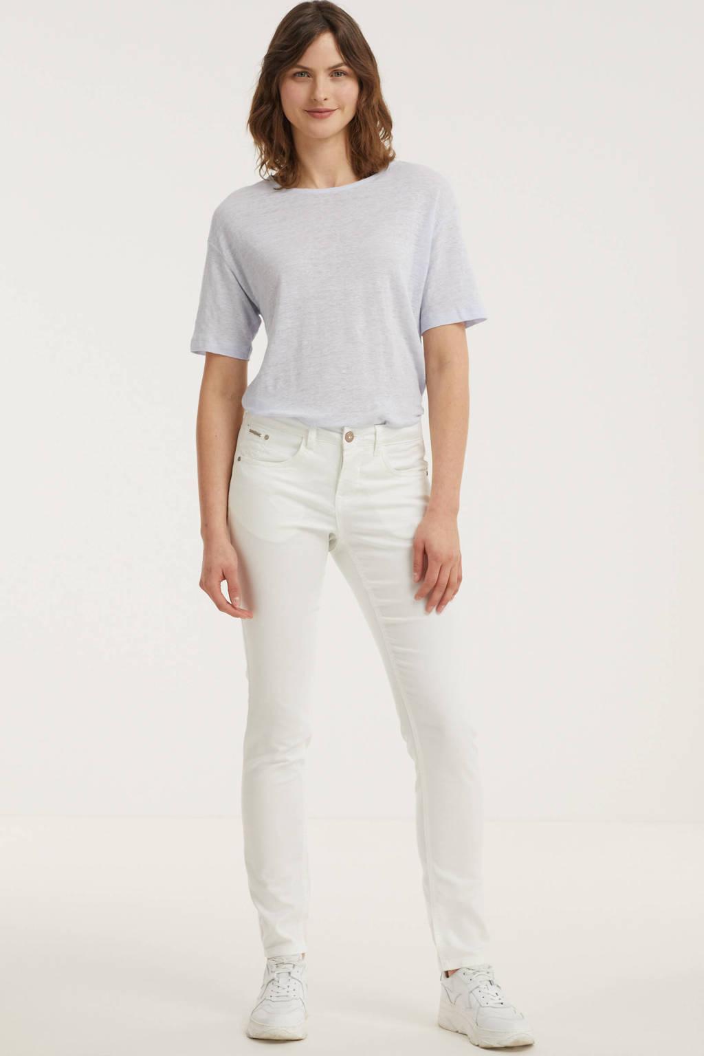 Cream slim fit broek Lotte wit, Wit