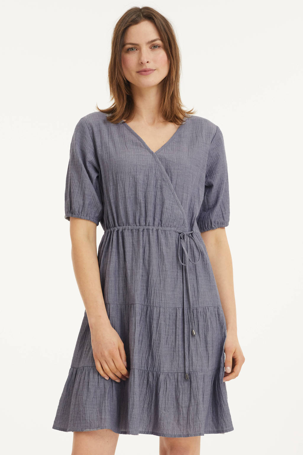 Cream A-lijn jurk blauw, Blauw