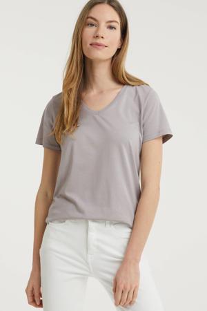 T-shirt met biologisch katoen grijs