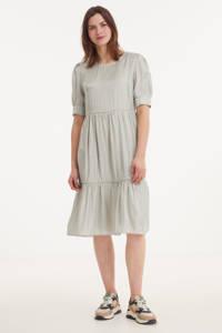 Cream jurk met volant lichtgroen, Lichtgroen