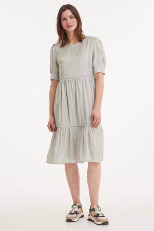 jurk met volant lichtgroen