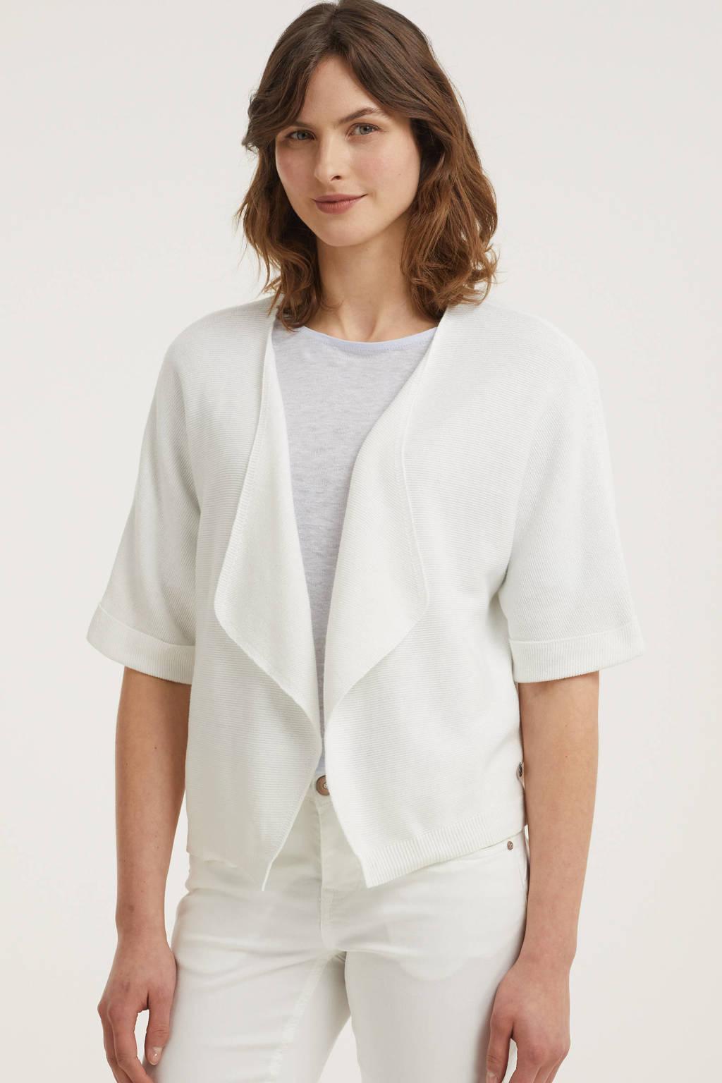Cream gebreid vest wit, Wit