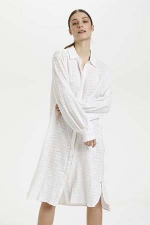 blousejurk met textuur wit