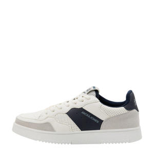 Caras  sneakers wit/donkerblauw