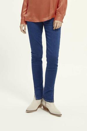 high waist skinny jeans met biologisch katoen donkerblauw