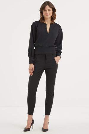 sweater met plooien zwart