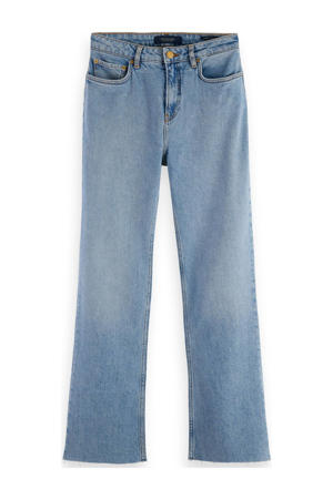 cropped high waist flared jeans light blue