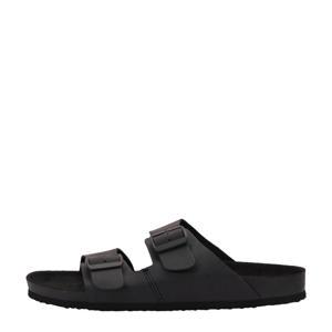 Roxton  leren slippers zwart