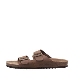 Roxton  leren slippers bruin