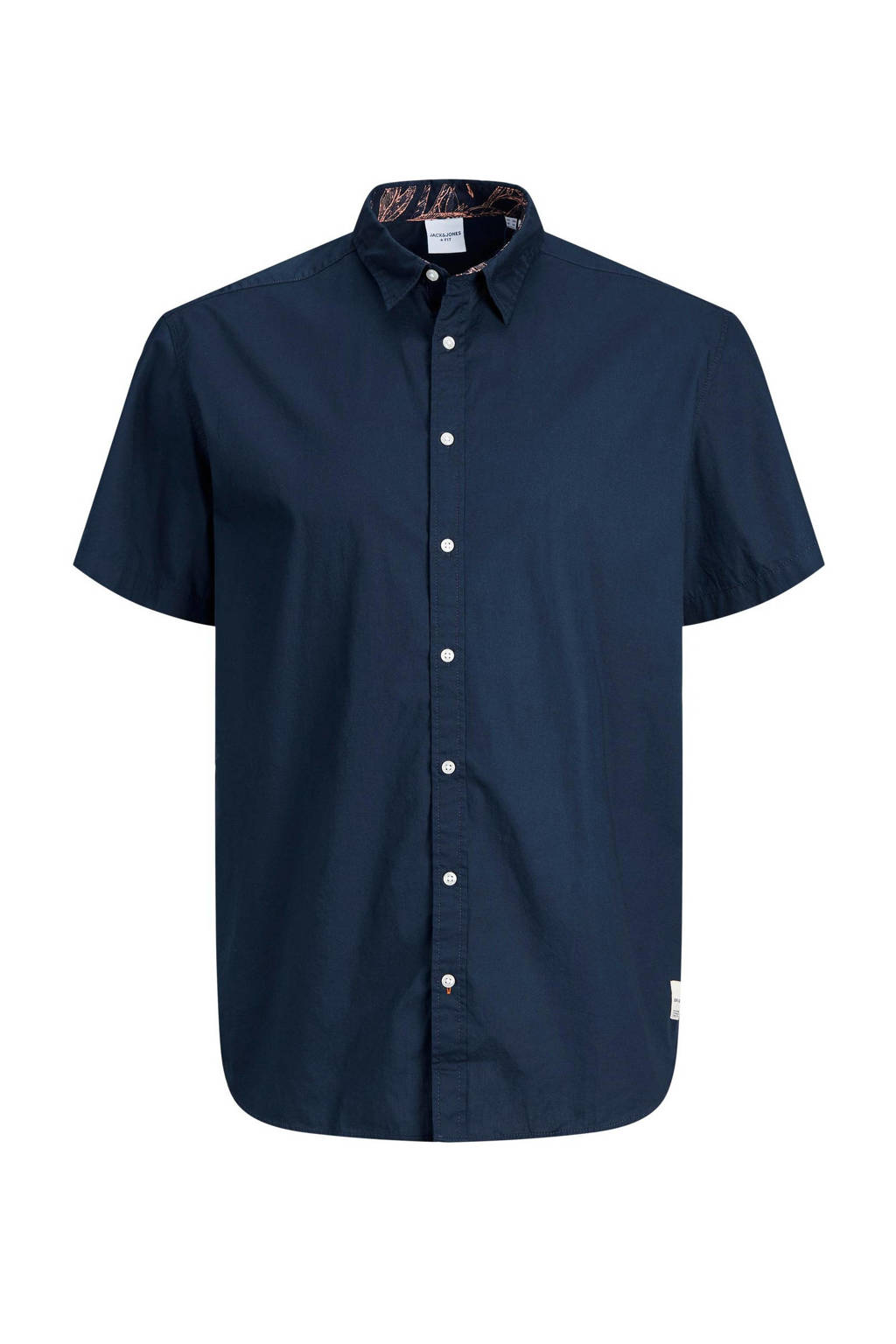 JACK & JONES PLUS SIZE regular fit overhemd Charlie Plus Size donkerblauw, Donkerblauw