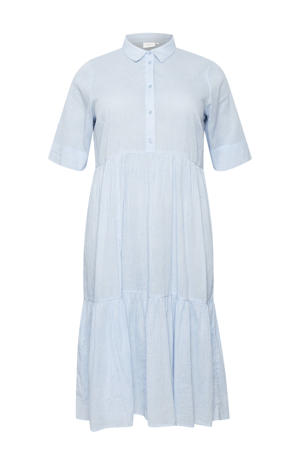 A-lijn jurk KCvella met plooien lichtblauw