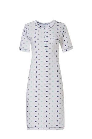 nachthemd met all over print wit/lichtgroen