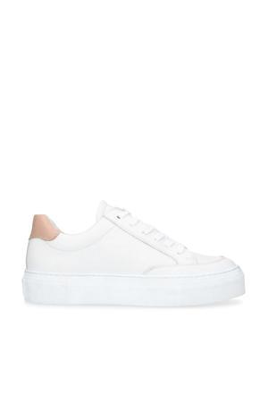 leren plateau sneakers wit