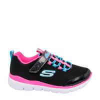 Skechers   sneakers zwart, Zwart/roze/blauw
