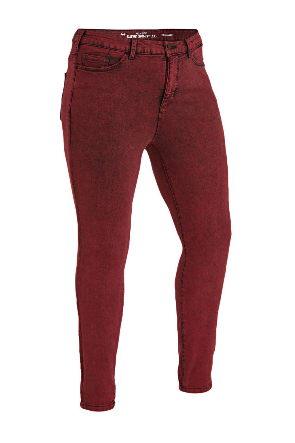 C&A XL Clockhouse high waist super skinny jeans rood, Rood