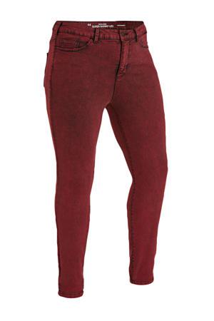 high waist super skinny jeans rood
