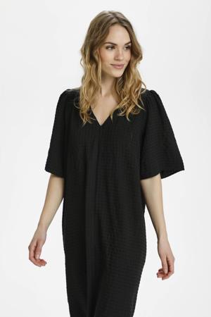 A-lijn jurk KAjollie met plooien zwart