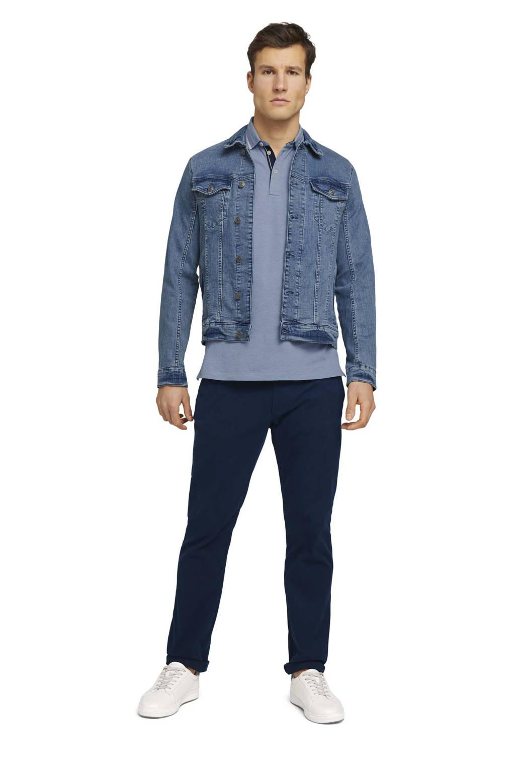 Tom Tailor regular fit polo met logo blauw, Blauw