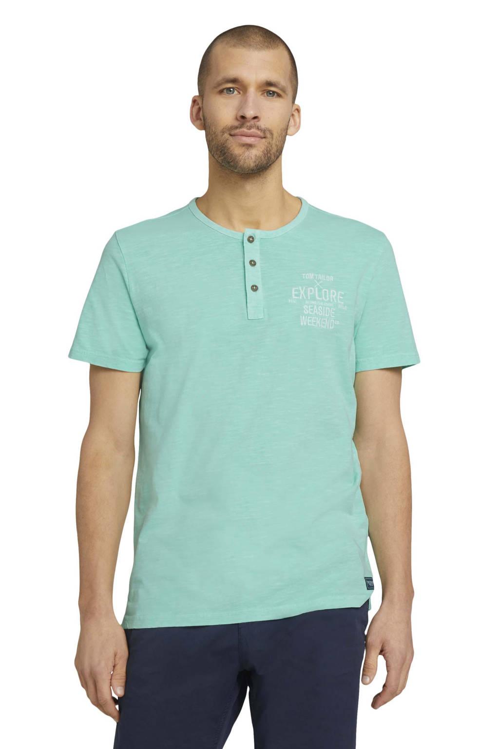 Tom Tailor gemêleerd T-shirt groen, Groen