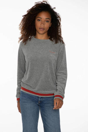sweater Anny grijs/rood